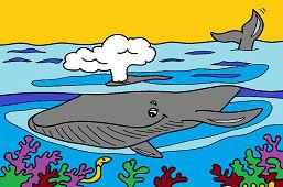 Wieloryba w oceanie