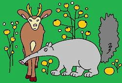 Mrówkojad i jeleń