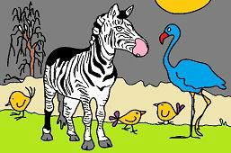 Zebra i czerwonak