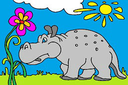 Hipopotam z długim ogonem