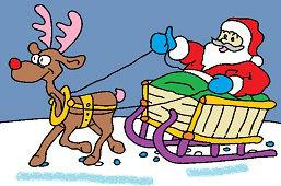 Święty Mikołaj w saniach