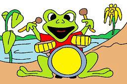 Żaba perkusista
