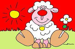 Owca Ema na łące