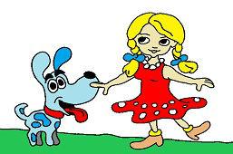Dziewczynka i piesek