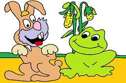 Królik i żaba
