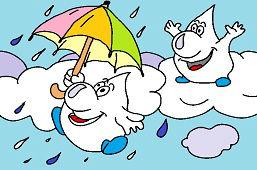 Deszczowe krople