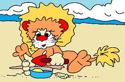 Grając w piasku