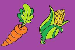 Marchewka i kukurydza