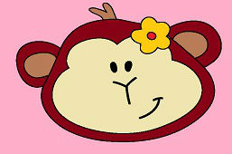 Małpa z kwiatem