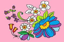 Malowane kwiaty