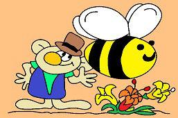 Elf i duża pszczoła