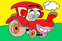 Uśmiechnięty ciągnik