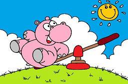 Hipopotam na huśtawce
