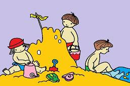 Na piaszczystym wybrzeżu