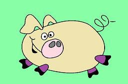 Szczęśliwa świnia