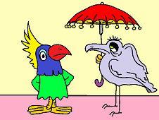 Ptak z parasolem
