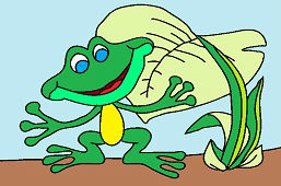 Żaba pod łopianem
