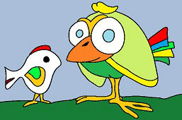 Dwa różne ptaki