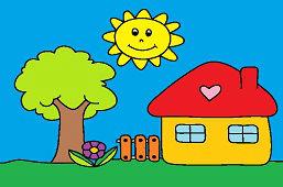 Domek i drzewko