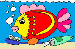 Ryba i szczoteczka do zębów