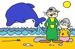 Świstaki i delfin