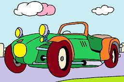 Stary samochód sportowy