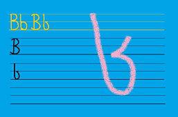 Piszemy literki – B