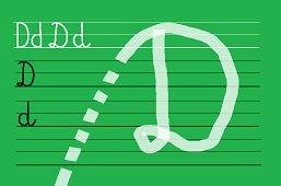 Piszemy literki – D