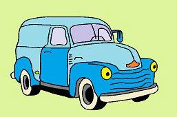Stary samochód dostawczy