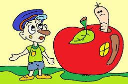 Robak w jabłko