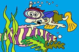Nurek i ryba