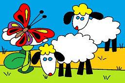 Owce i motyl