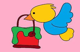 Ptak i farba