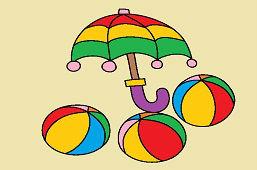 Parasol i piłki