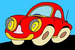 Czerwony Bugatti