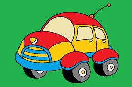Samochód z anteną
