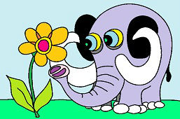 Słoń i kwiat