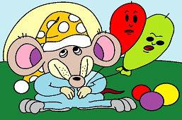 Szczur i balony