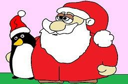 Mikołaj i pingwin