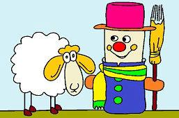 Bałwan Figurka i owca