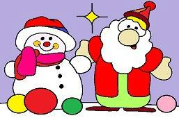 Bałwanek i Mikołaj