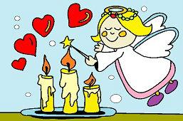 Anioł i świece