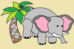 Słoń i palma
