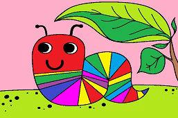 Kolorowa gąsienica