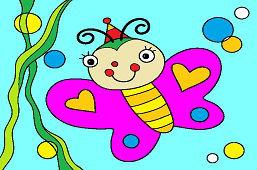 Młody motylek