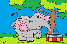 Zabawny słoń