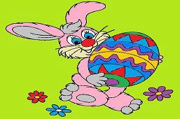 Zając i duże jajko