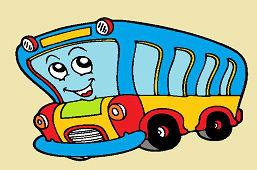 Uśmiechnięty autobus
