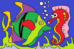 Konik morski i ryba