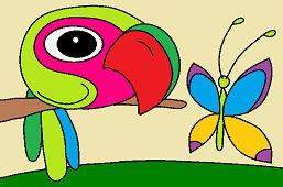 Ptak Gabo i motyl